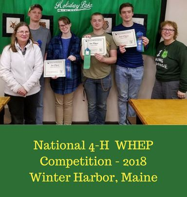 National 4-H - WHEP Competition Team