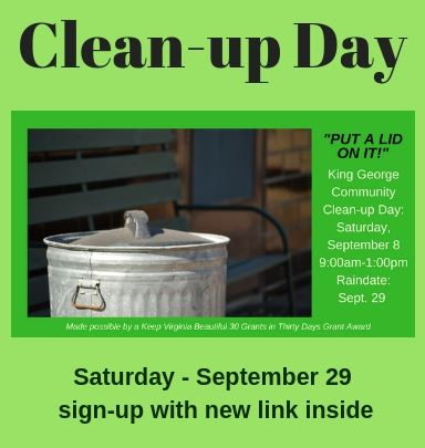 New Clean-up Day - September 29
