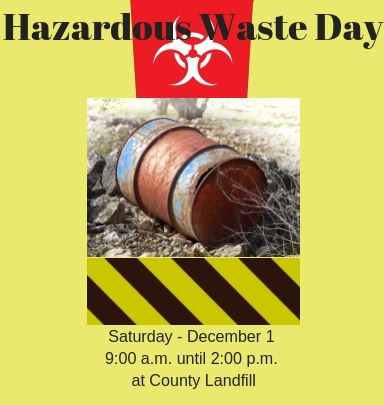 Hazardous Waste Day - Saturday December 1, 2018