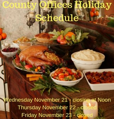 Thanksgiving Holiday Schedule 2018