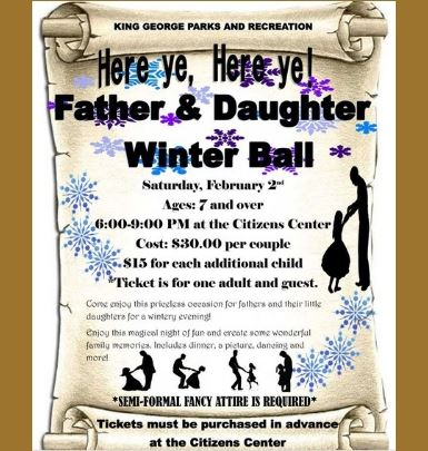 Father and Daughter Winter Ball