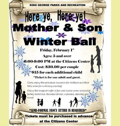 Mother and Son Winter Ball