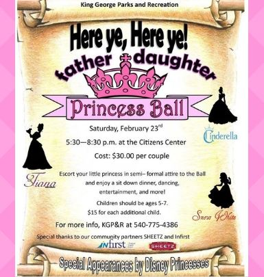 Father and Daughter Princess Ball