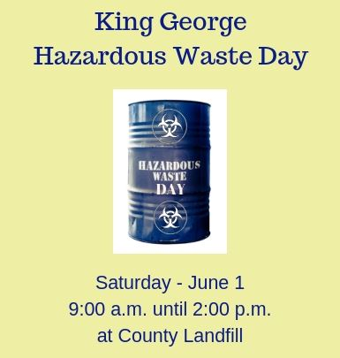 Hazardous Waste Day - Saturday June 1, 2019