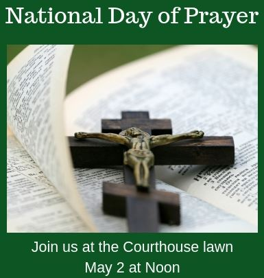 National Day of Prayer - May, 2019 at Noon - Courthouse Lawn