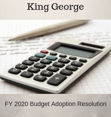 FY20 Budget Adoption Resolution - Document