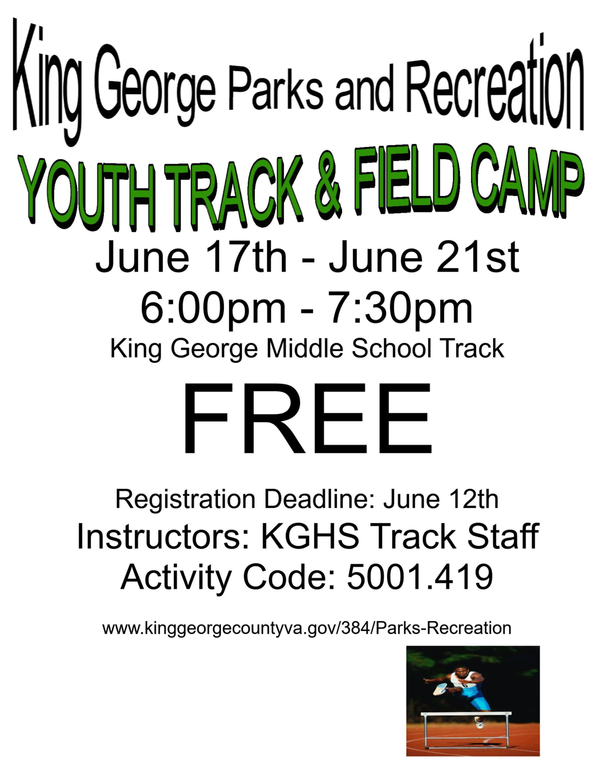 2019 Summer Track and Field Camp II
