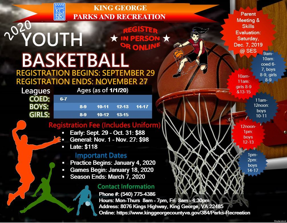 2020 Youth Basketball Flyer
